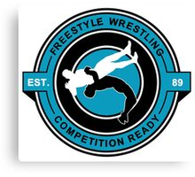 Freestyle Wrestling Competition Ready Suplex Blue  Canvas Print