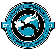 Freestyle Wrestling Competition Ready Suplex Blue  Photographic Print