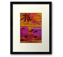 The very last rays of light, watercolor PENCIL Framed Print