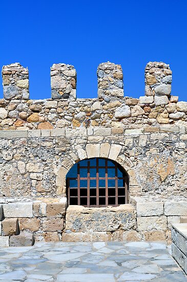 Fortification: Venetian castle (Koules), in Crete, Greece. by FER737NG