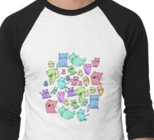 catto ghost party Men's Baseball ¾ T-Shirt