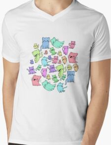 catto ghost party Mens V-Neck T-Shirt