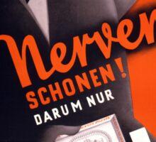 Lord Cigarettes German Vintage Poster Restored Sticker