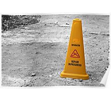 Yellow cone. Poster