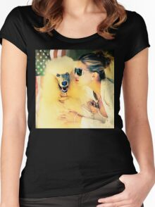 ameRican dream 2 Women's Fitted Scoop T-Shirt