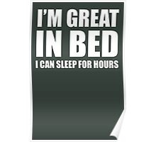 I'M GREAT IN BED Poster