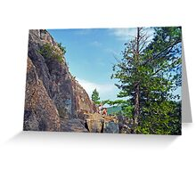 Perched Over Echo Lake Greeting Card