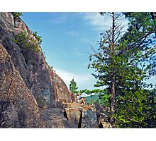Perched Over Echo Lake Photographic Print