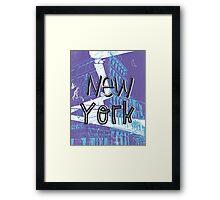 New York menthol midnight Framed Print