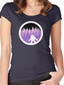 Yeti By Night - NoirGraphic Original  Women's Fitted Scoop T-Shirt