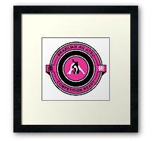 Brazilian Jiu Jitsu Competition Ready Triangle Choke Pink  Framed Print