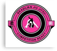 Brazilian Jiu Jitsu Competition Ready Triangle Choke Pink  Canvas Print