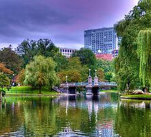 Boston Public Garden in Autumn by Monica M. Scanlan