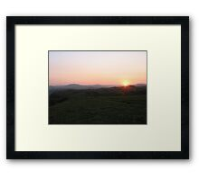 Coffee Bay South Africa sunset drinks Framed Print