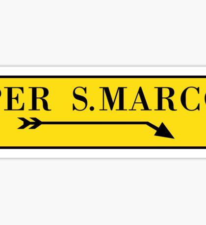 Per San Marco, Venice, Italian Street Sign Sticker