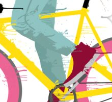 fixie bicycle Sticker