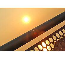 Sun through Railings Photographic Print