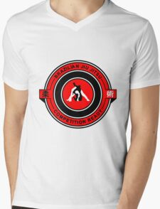 Brazilian Jiu Jitsu Competition Ready Triangle Choke Red  Mens V-Neck T-Shirt