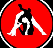 Brazilian Jiu Jitsu Competition Ready Triangle Choke Red  Sticker