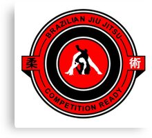 Brazilian Jiu Jitsu Competition Ready Triangle Choke Red  Canvas Print