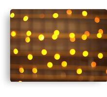 Top view on the blurred bright yellow circle Canvas Print