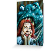 The Horrible Thing  Greeting Card