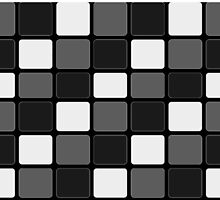 Black, White & Gray Squares by Buckwhite
