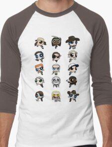 The Walking Dead Puffs Parody Men's Baseball ¾ T-Shirt