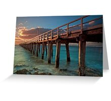 Warm Rays on a Pier Greeting Card