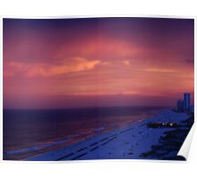 Beach Dusk Scene Poster