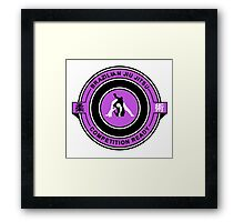 Brazilian Jiu Jitsu Competition Ready Triangle Choke Purple  Framed Print