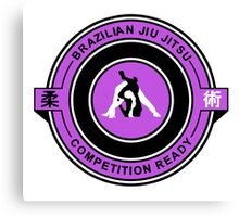 Brazilian Jiu Jitsu Competition Ready Triangle Choke Purple  Canvas Print