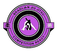 Brazilian Jiu Jitsu Competition Ready Triangle Choke Purple  Photographic Print