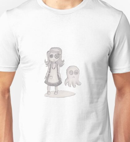 button girl and tenta-ghost Unisex T-Shirt