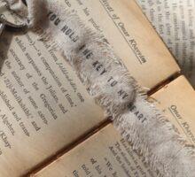 A bookworm's love note Sticker