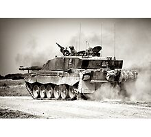"""Heavy Armour""- Challenger 2 Main BattleTank (MBT) British Army Photographic Print"