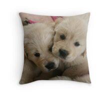 Our Golden Retriever puppies Throw Pillow
