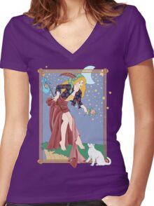Tarot Fool Women's Fitted V-Neck T-Shirt