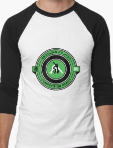 Brazilian Jiu Jitsu Competition Ready Triangle Choke Green  Men's Baseball ¾ T-Shirt