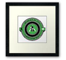 Brazilian Jiu Jitsu Competition Ready Triangle Choke Green  Framed Print