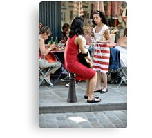 Do you want a table Madame? Canvas Print