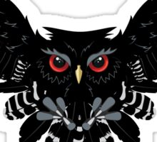 Black Owl 4 Sticker