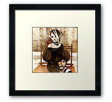 From a Broken Heart, Comes Caution Framed Print