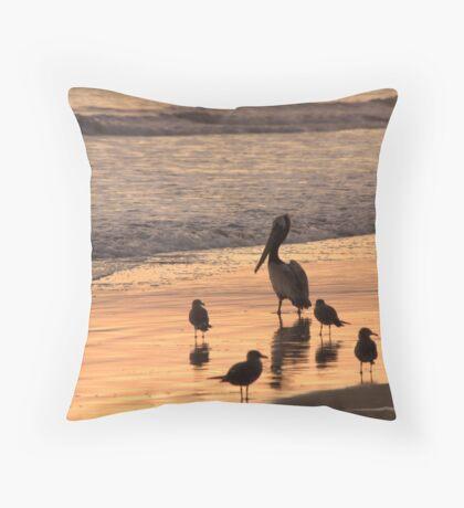 Beach Buds Throw Pillow