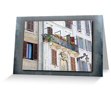 Patio & Shuttered Windows - Italy Greeting Card
