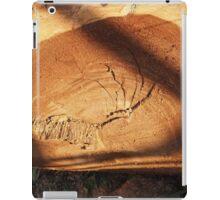 Felled tree trunk close-up iPad Case/Skin