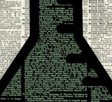 Green Chemistry Alchemy Test Tube Dictionary Art Sticker