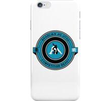 Brazilian Jiu Jitsu Competition Ready Triangle Choke Blue iPhone Case/Skin