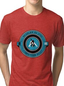 Brazilian Jiu Jitsu Competition Ready Triangle Choke Blue Tri-blend T-Shirt