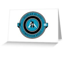 Brazilian Jiu Jitsu Competition Ready Triangle Choke Blue Greeting Card